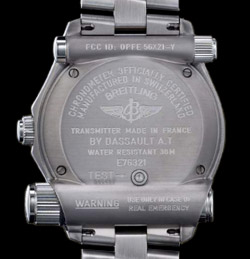 Breitling Emergency back
