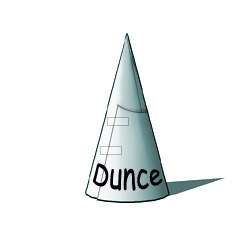 Image result for bart simpson dunce hat