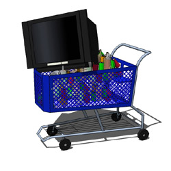 Bottle Collecting Shopping Cart