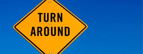 The sign says turn around