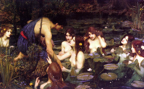 J W Waterhouse Hylas Nymphs